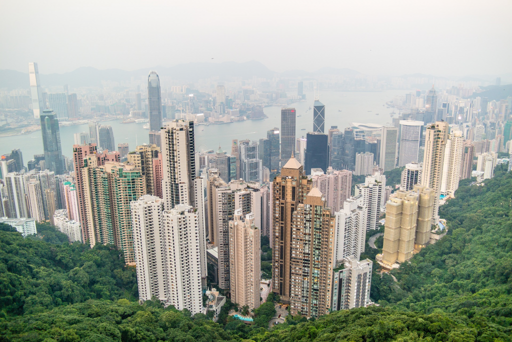Les Grattes Ciels de Hong Kong
